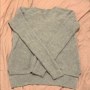 Aritzia waffle knit sweater